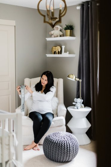 Maternity Photography Lifestyle | Neutral Baby Nursery