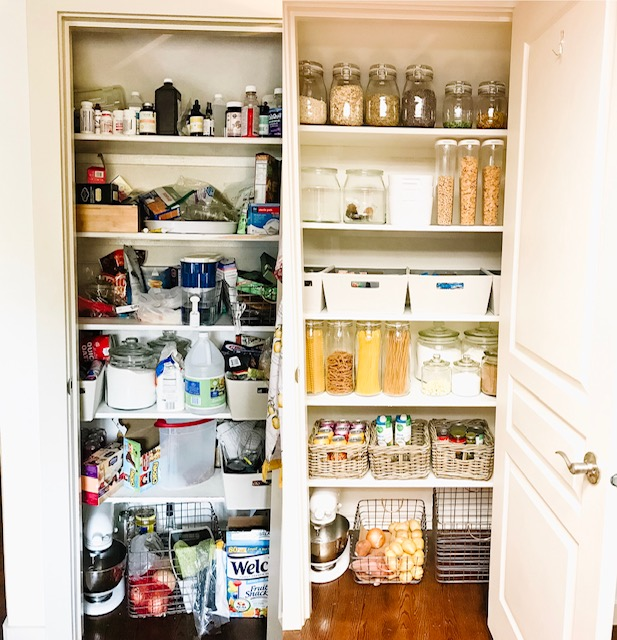 Small Pantry Organization Before and After | Pantry Makeover