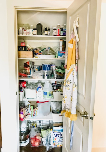 Small Pantry Makeover Before
